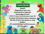 Sesame Street Guest Book Sign, Personalised Sesame Street Boy/Girl Birthday Guest Book Sign