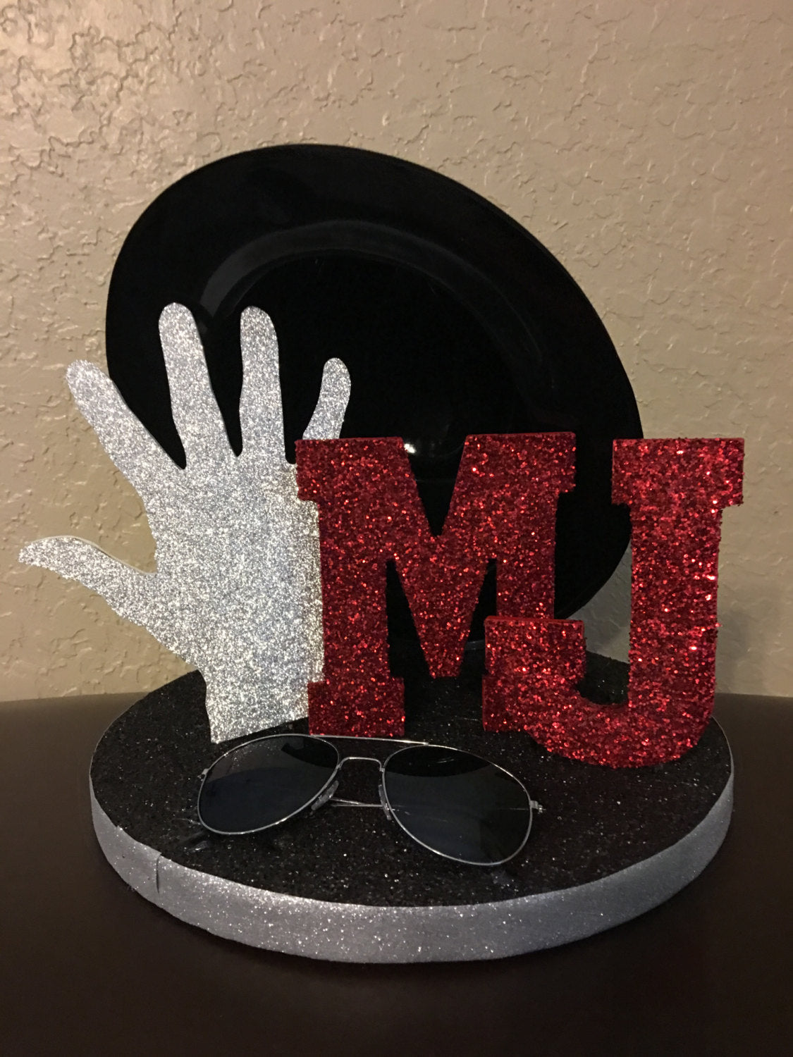 Michael Jackson Inspired Centerpiece Birthday Party Decorations King Of Pop Themed Decor