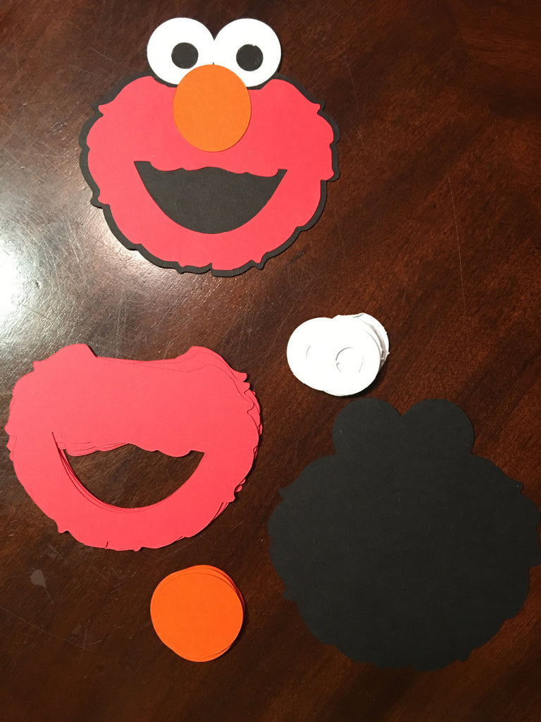 Elmo Activity Set 10, elmo party games, Cookie Monster, Big Bird, fun party activity, Build an Elmo kids activity, DIY ELMO party activity, Elmo Face