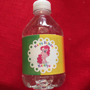 my little pony water bottle labels