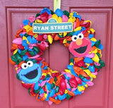 Elmo Face Cut outs (12), Sesame Street party decoration, Sesame Street party supplies, Sesame Street favors, Sesame Street