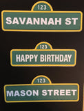 Sesame Street Customize Food Signs or Labels signs, Seame Street party decorations, Sesame Street party, Elmo party, Cooke Monster party