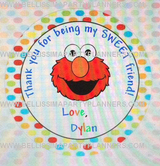 Elmo Thank You labels, Elmo thank you tags, Elmo thank you stickers, Elmo Party