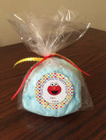 Elmo Cotton candy Favors, (12), Sesame Street party favors, Sesame Street party, Sesame Street gift, Elmo party favors, cotton candy favor