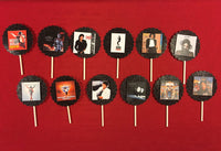 Michael Jackson Album Covers Inspired Cupcake Toppers (10), Michael Jackson birthday decorations, Michael Jackson cupcake toppers