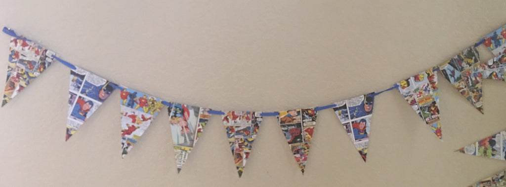 Superhero comics banner, Superhero Party Decorations