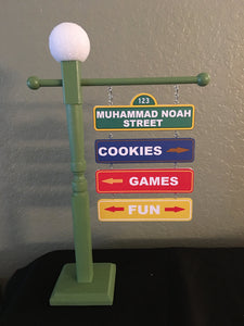 Sesame Street Lamp Post Four (4) tier, Sesame Street centerpiece, Sesame Street party decorations, Sesame Street party supplies