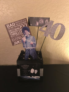 Michael Jackson, Michael Jackson Number Ones Centerpiece, Greatest Hits Album Inspired Centerpiece, Michael Jackson Themed Party Decorations