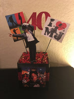 Michael Jackson Album Inspired Centerpiece, Michael Jackson Birthday, Michael Jackson Party Decorations, MJ party, King OF POP decorations