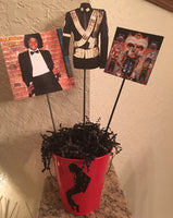 Michael Jackson Inspired Centerpiece, Michael Jackson Party Decor, Michael Jackson Party, MJ Party, MJ