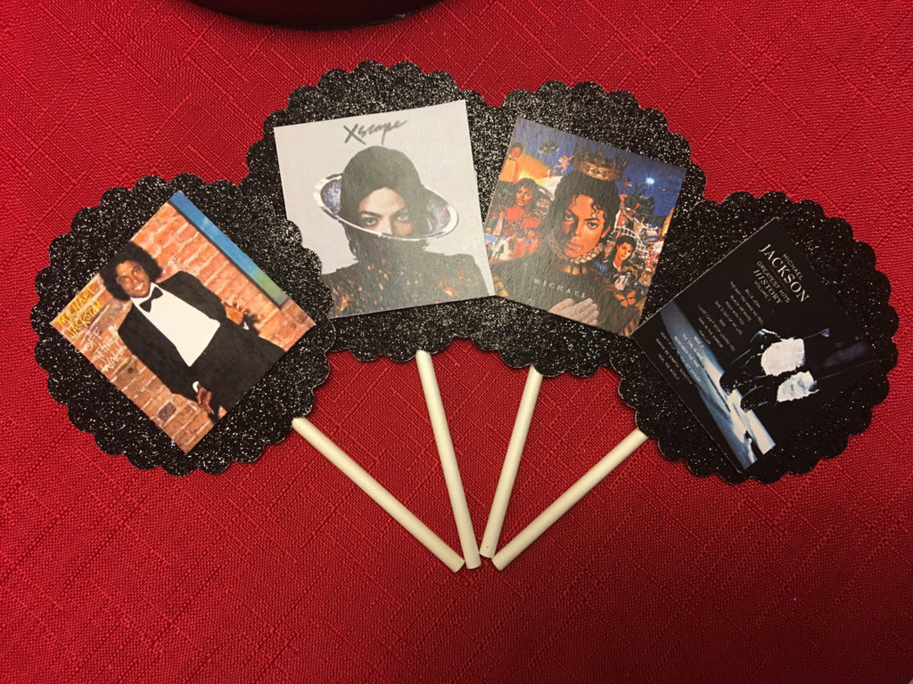 Michael Jackson Album Covers Inspired Cupcake Toppers (10 ...