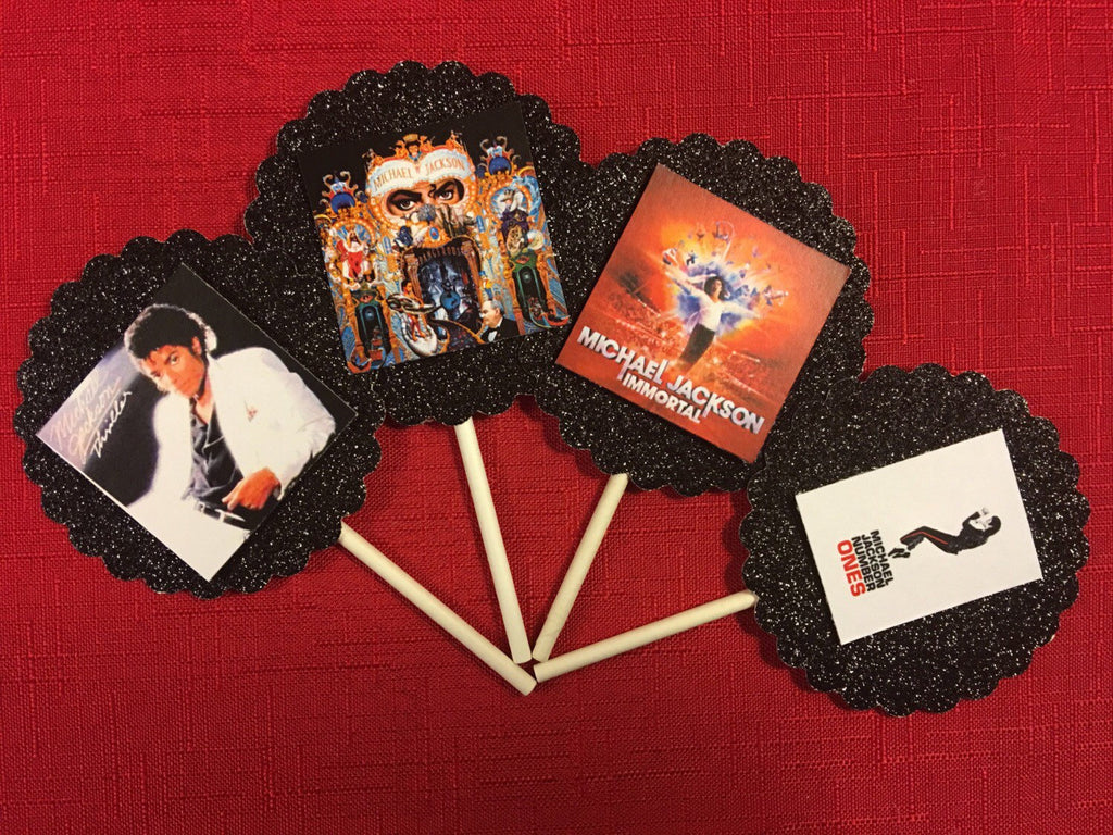 Michael Jackson Album Covers Inspired Cupcake Toppers (10), Michael Jackson Party, Michael Jackson cake topper, Michael Jackson, King of Pop, MJ