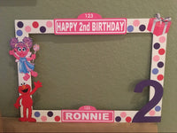 Sesame Street Photo Booth Prop Frame - wooden, Sesame Street party decorations, Sesame Street party supplies, Sesame Street picture frame, Pinl Elmo