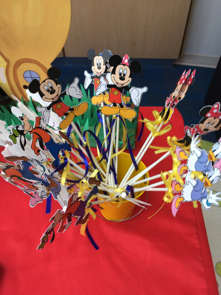 Mickey and Friends Wands (12), Mickey and Friends favors, Mickey and friends Party decorations, Mickey Mouse decorations, Mickey Pals
