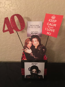 Michael Jackson, Michael Jackson Xscape Album Inspired Centerpiece, Michael Jackson Themed Party Decorations