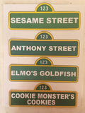 Sesame Street customize signs, Seame Street party decorations, Sesame Street party, Elmo party, Cooke Monster party