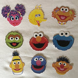 Sesame Street Character faces on cardstock, Sesame Street party decorations, Seame Street cutouts, Sesame Street party supplies, Elmo Cutout, Big Bird Cutouts, sesame street cutout