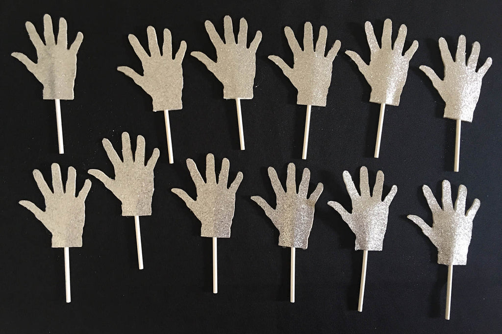 Michael Jackson Glove Inspired Cupcake Toppers (10), Michael Jackson Party, Michael Jackson cake topper, Michael Jackson, King of Pop, MJ