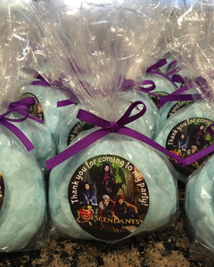 Descendants Cotton candy Favors, (12), party favors, descendant party favors, descendants party, descendants party, Cotton Candy Party favor