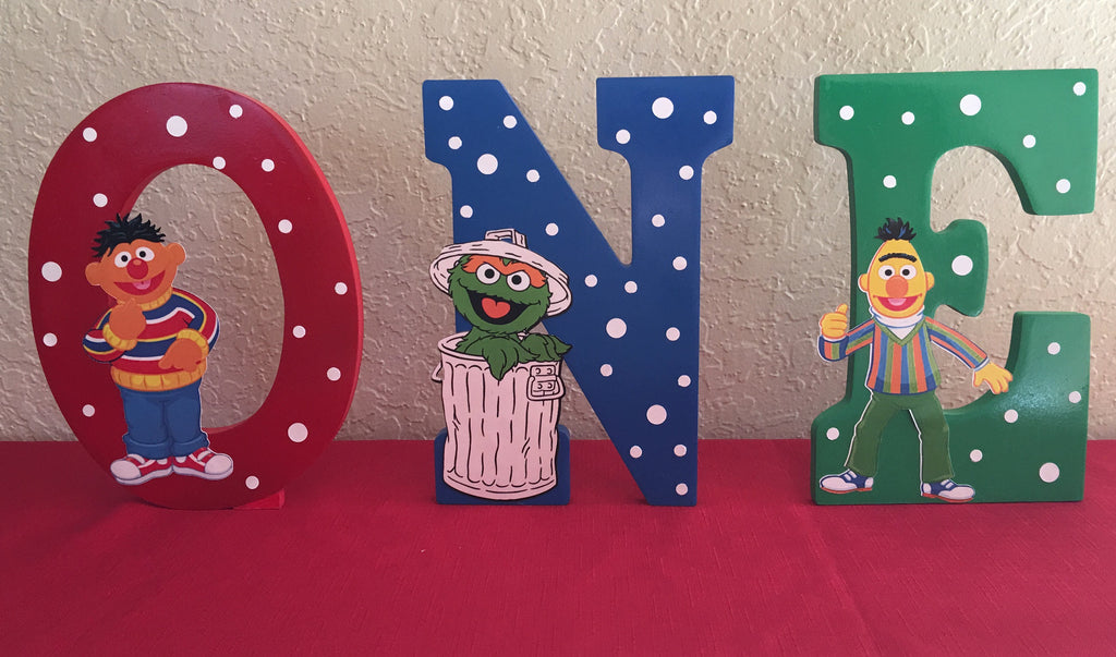 Sesame Street Letter Or Number Sesame Street Party Decorations Sesame Street Party Supplies Elmo Party Decorations Cookie Monster