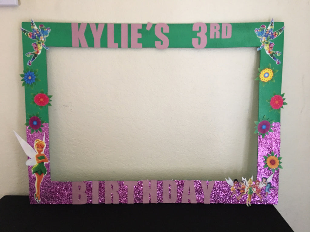 Tinker bell inspired Photo Prop Frame, Tinker bell party decorations
