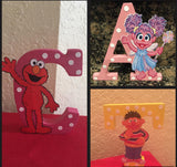Sesame Street Themed Letter or Number, Sesame Street party decorations