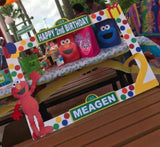 Sesame Street Photo Booth Prop Frame - wooden, Sesame Street party decorations, Sesame Street party supplies, Sesame Street picture frame