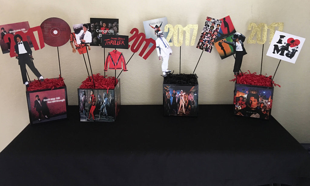 Michael Jackson, Michael Jackson Number Ones Centerpiece, Greatest Hits Album Inspired Centerpiece, Michael Jackson Themed Party Decorations, Michael Jackson Party Decor, Michael Jackson Party, MJ Party, MJ