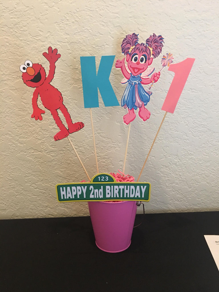 Sesame Street Centerpiece, Sesame Street Letter, Sesame Street Number on cardstock, Sesame Street party decorations