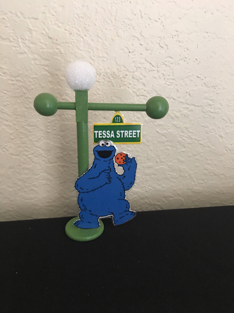 Sesame street lamp post sesame street party sesame street lamp sesame street lamp post sesame street party sesame street lamp post favor cake topper placecard mini 6 inches sesame street party props aloadofball Images