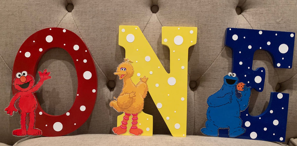 Sesame Street Letter or Number, Sesame Street party decorations, Sesame Street party supplies, Elmo Party decorations, Cookie Monster