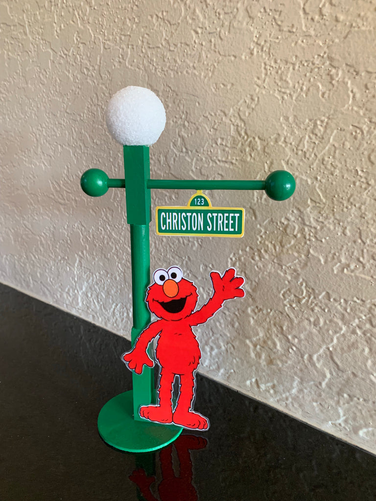 Sesame Street 9 in. lamp post, sesame street party favor, Sesame Street party decoration