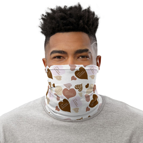 """Love (& protect) thy neighbor"" neck gaiter"