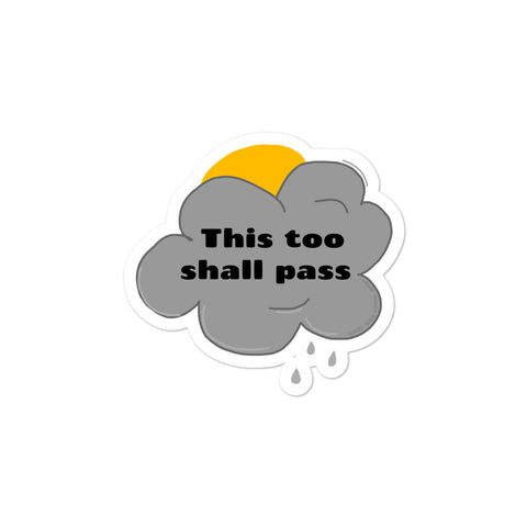 """This too shall pass"" sticker doodle!"