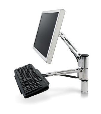 Monitor Arm with Keyboard Holder