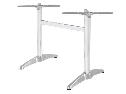 Astoria Aluminium Twin Table Base