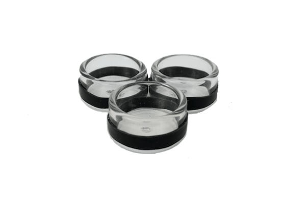 Extra Glass Bowls and Silicone Bands (3 Pack)