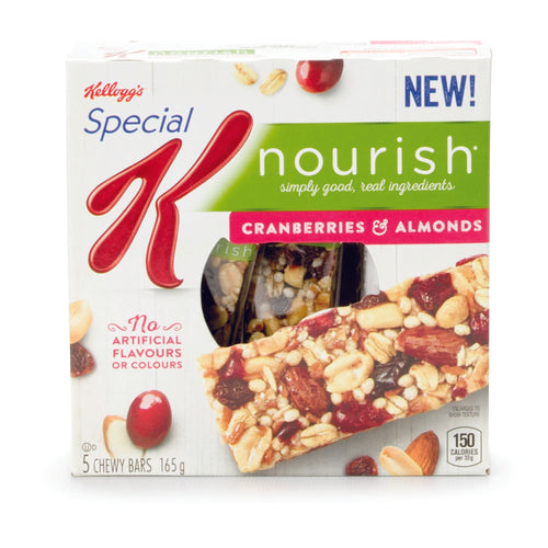 Barres tendres canneberges et amandes - Kellogg's Special K