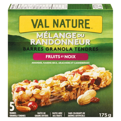 Barres granola tendres fruits et noix - Val Nature - Epipresto