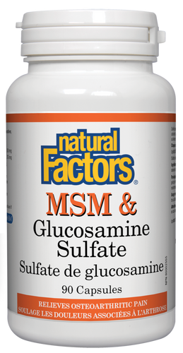 Msm et glucosamine Sulfate - Natural Factors
