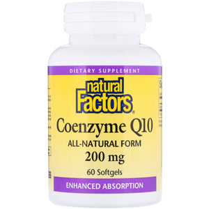 Naturals Factors -Coenzyme Q10 200 mg - Epipresto
