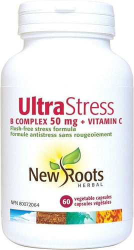 Ultra stress complexe 50 mg plus vitamine C - New Roots Herbal