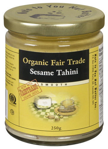 Tahini de sésame crémeux, commerce équitable - Nuts to You Nut Butter