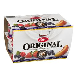 Assortiment de yogourt aux fruits tyle Balkan 4 %, Original - 12x100 g - Astro