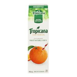 Jus d'orange avec un peu de pulpe Homestyle, Pure Premium - 946 ml - Tropicana