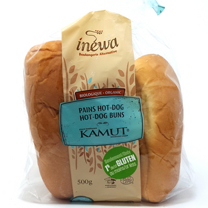 Inewa -Pain hot dog Kamut bio 1% de gluten ou moins - Epipresto