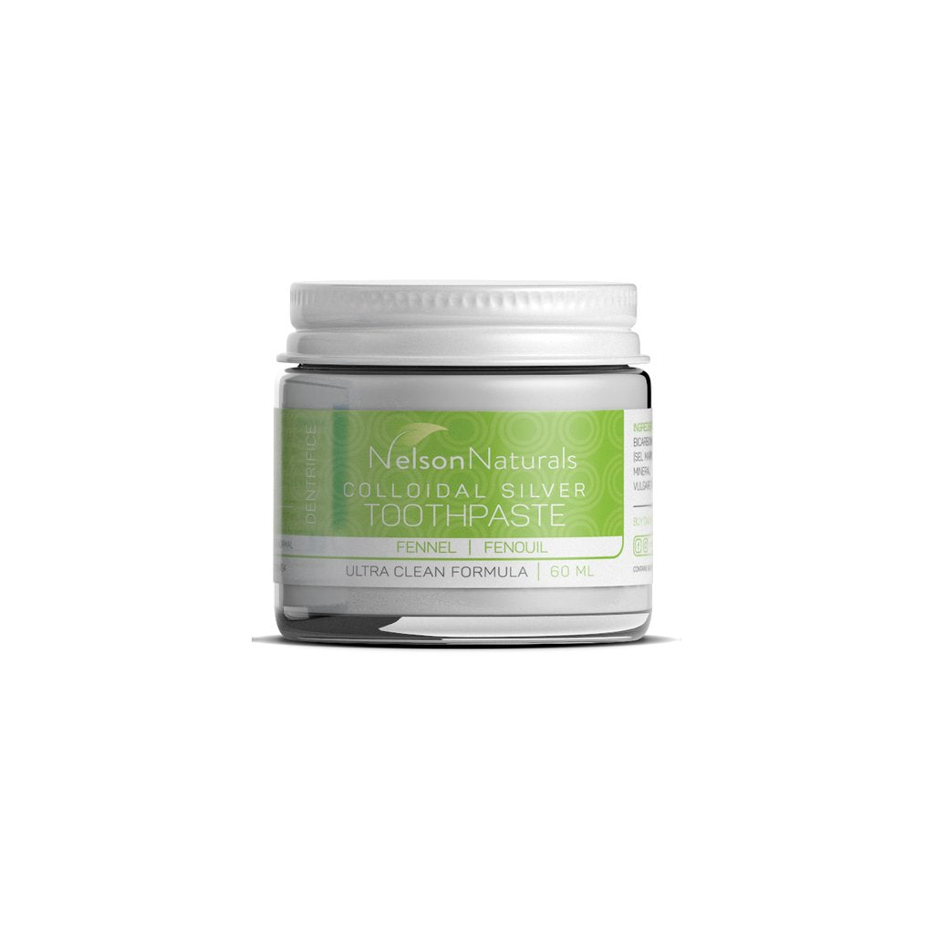 Colloidal silver toothpaste fennel - Nelson Naturals