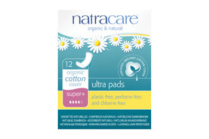 Serviettes naturelles super plus en coton bio - Natracare