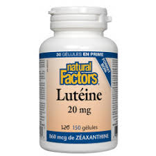 Lutéine 20 mg - Natural Factors