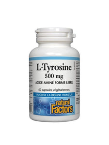 L-Tyrosine 500mg Acide aminé forme libre - Natural Factors